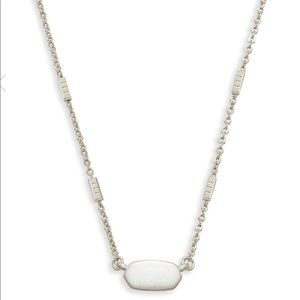 New Kendra Scott Fern Pendant Necklace In Silver